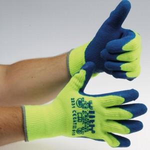 """Arbeitshandschuhe """"Ice-Crusher""""gelb/blau Latex-Beschichtung"""