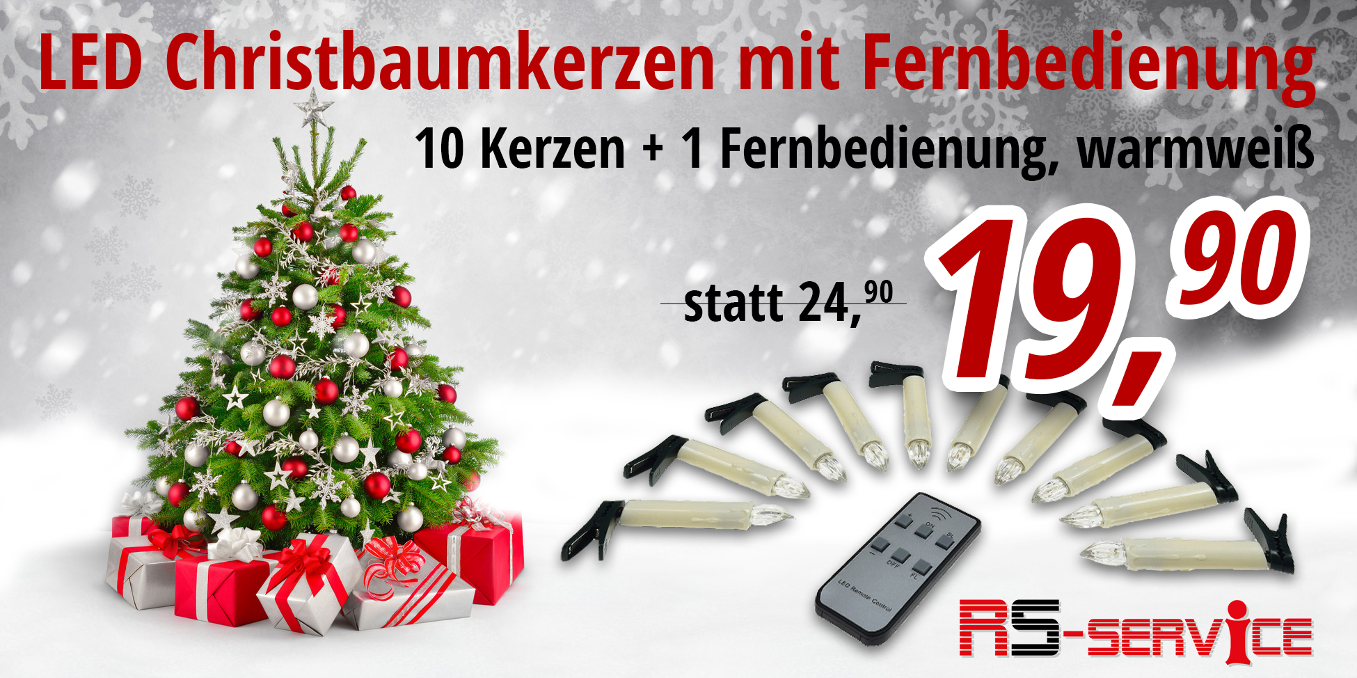 banner led christbaum beleuchtung rs service. Black Bedroom Furniture Sets. Home Design Ideas